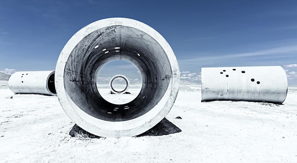 Sun Tunnels by Nancy Holt. Photo by Denny Wilkins.