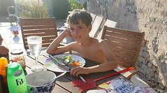 Jasper Having Dinner
