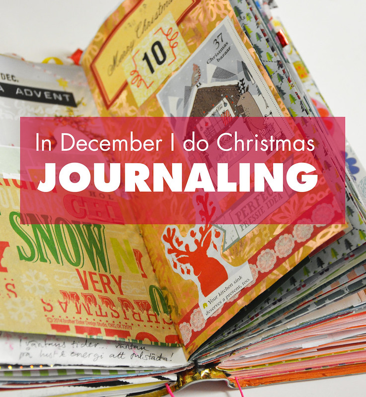 Yes, it's what I do in December: December Daily or Christmas Journaling in a travelers notebook junk journal made by me, iHanna #journaling