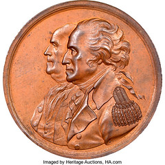 Washington - Franklin American Beaver Medal obverse
