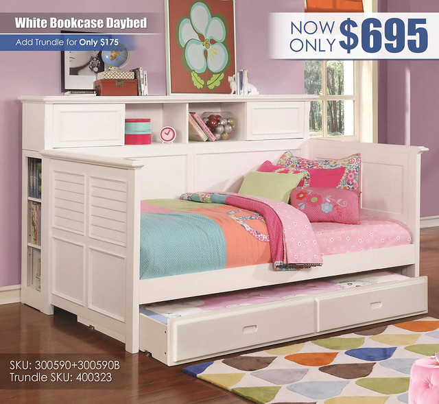 White Bookcase Daybed_300590
