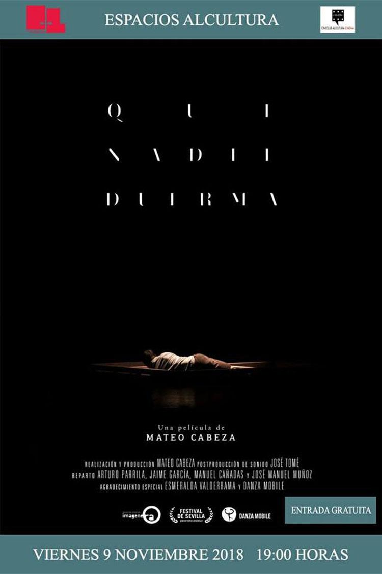 Cartel Pelicula Documental Que nadie duerma1