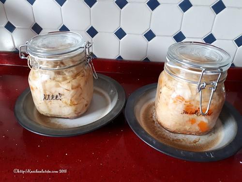 Sellerie-Quitte und Weißkohl-Karotte
