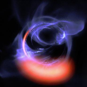 Hasil pencitraan instrumen GRAVITY ESO memperlihatkan lubang hitam super masif.