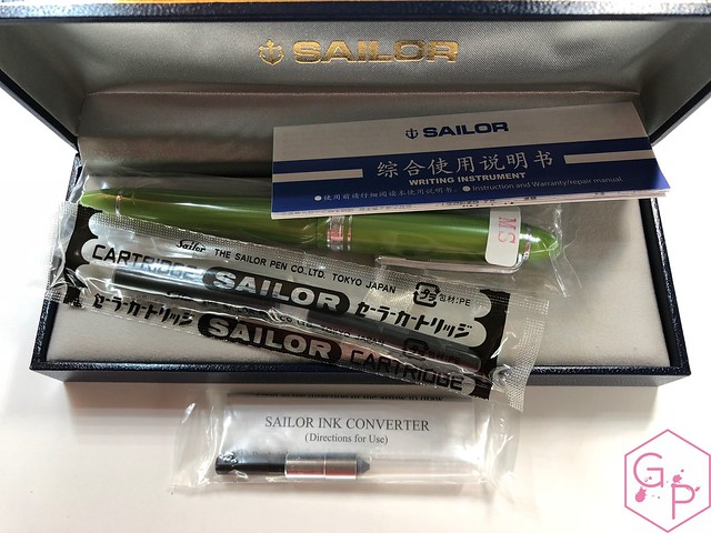 Sailor 1911S Key Lime Fountain Pen Music Nib 2