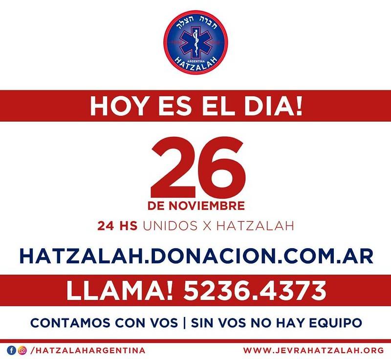 24 hs unidos por Hatzalah