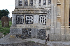 south porch flushwork: M AMR AMR (15th Century)