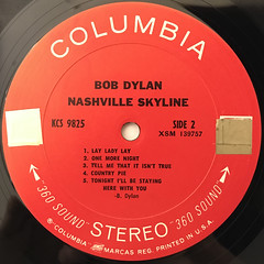 BOB DYLAN:NASHVILLE SKYLINE(LABEL SIDE-B)