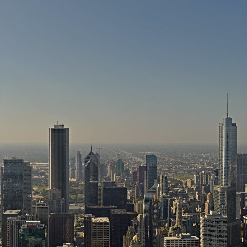 USA - Illinois - Chicago - view from John Hancock Center