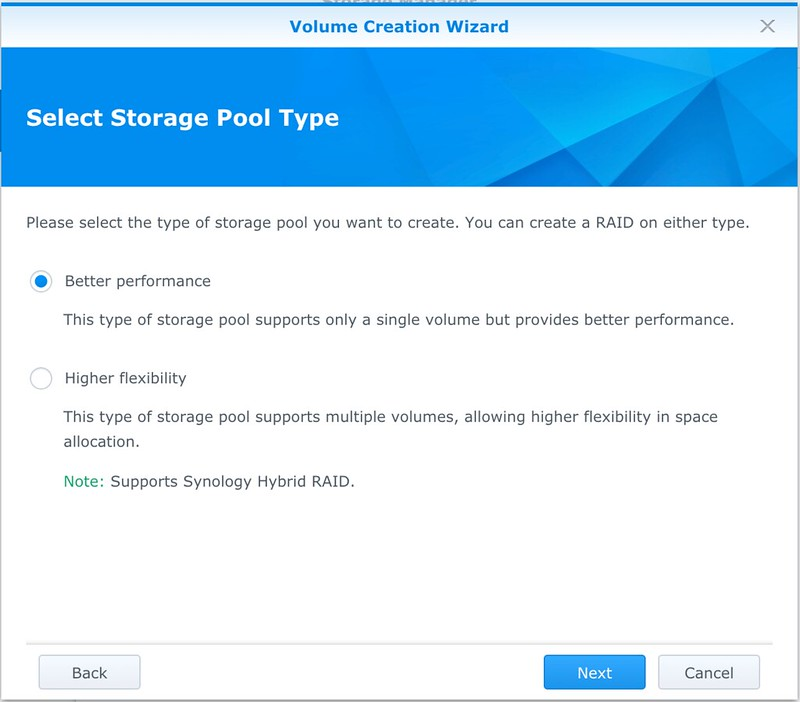 Synology DS218+ : Formatting