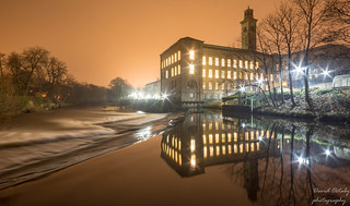 Saltaire at night