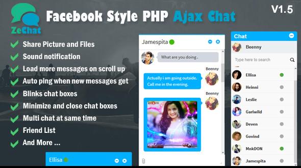 Zechat v1.5 – Facebook Style Php Ajax Chat