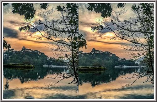 kandylake srilanka kandy 3d stereoscopy stereophotography