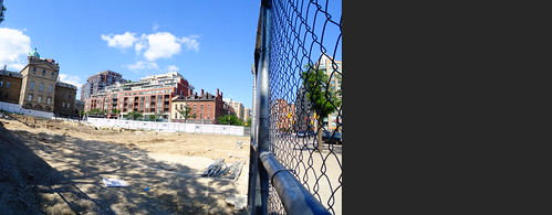 Pano of excavation for a new North St Lawrence Market, 2017 07 15 -a