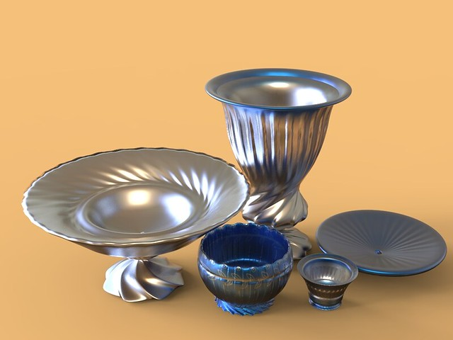 Virtual 3D Illustration - Crockery