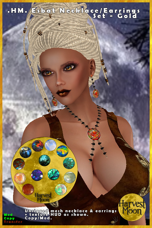 Harvest Moon – Esbat Jewelery Set – Gold