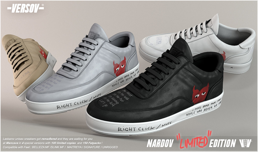 [ Versov // ] NARDOV LIMITED EDITION sneakers available at ManCave