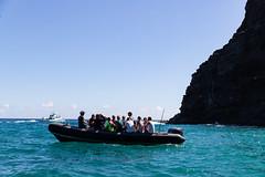 Boat tour Na Pali Coast Kauai Hawaii