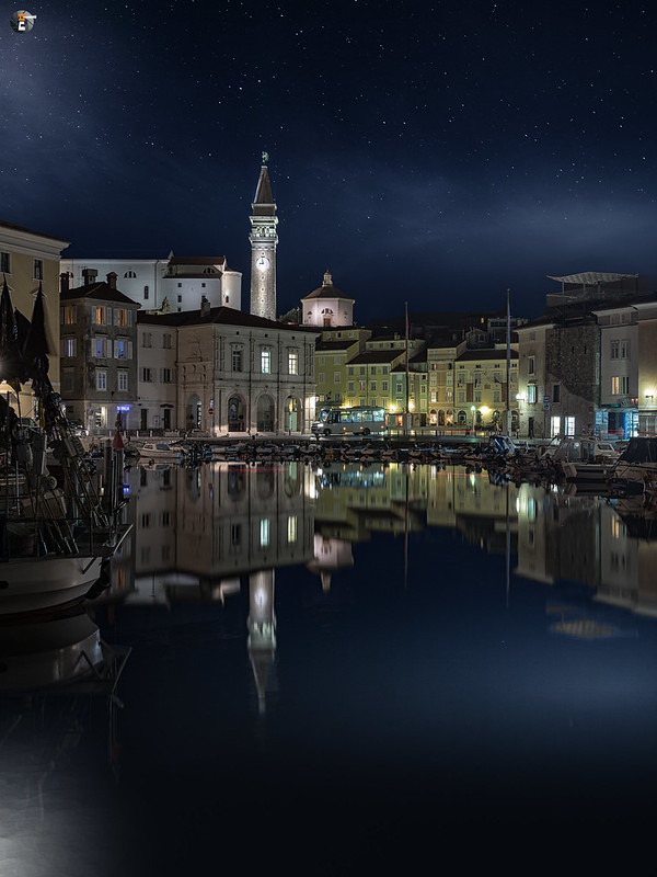 Piran by night