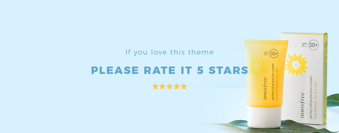 rate this theme 5 stars - Bos Nature - Skin Care and Beauty Spa