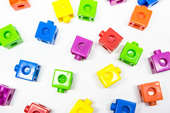 Colorful kids learning blocks