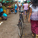 Bicycle Parked at Sittwe Market by shapeshift