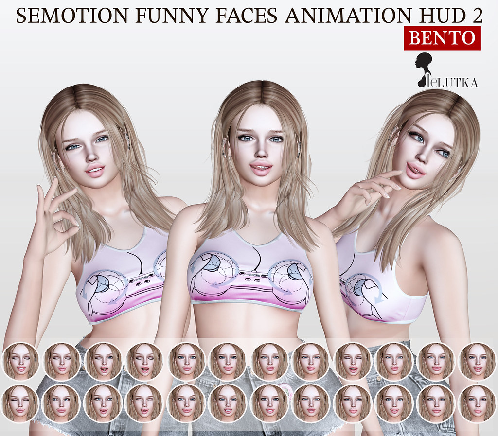 SEmotion Funny Faces Animation HUD 2 Gacha for LeLutka heads @ Limit8 - TeleportHub.com Live!