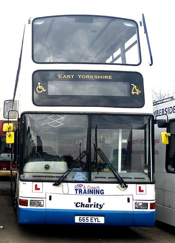 665 EYL 'East Yorkshire Motor Services' No. 9916 'Charity'. Volvo B7TL / Plaxton President on Dennis Basford's railsroadsrunways.blogspot.co.uk'