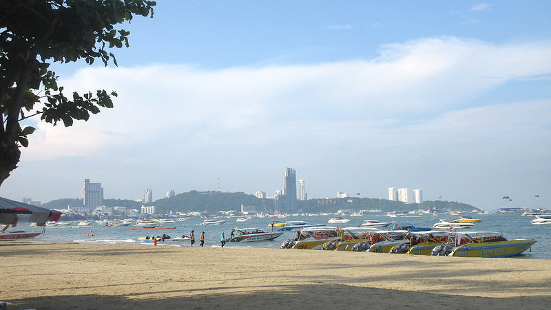 November storm damages Pattaya Beach
