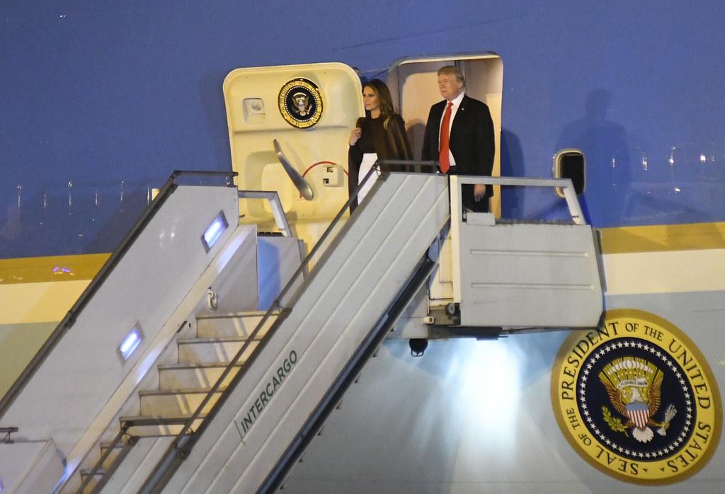Llegada de Donald Trump, presidente de los Estados Unidos de América
