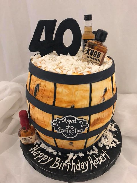 Whiskey Barrel Cake by Chantilly Cakes