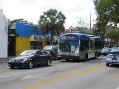 20170215 59 Miami Dade County Transit bus, Coconut Grove, Florida
