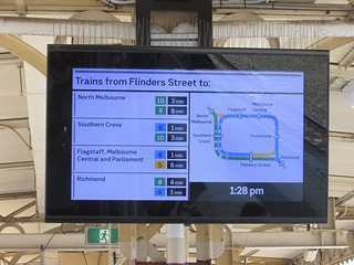 New platform displays at Flinders Street Station, January 2019 | by Daniel Bowen