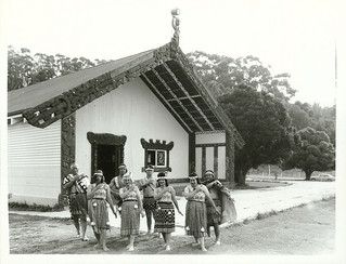 Māori Group performing in front of the Gisborne Marae