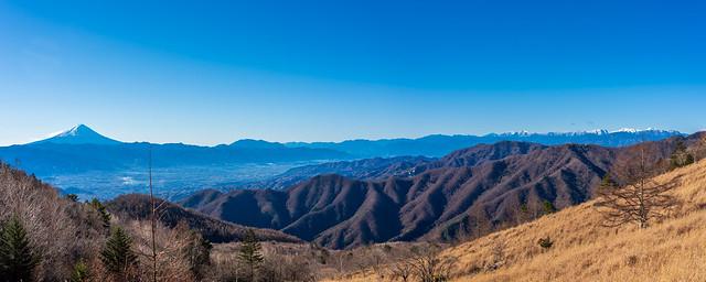 富士山~南アルプス@月見岩手前