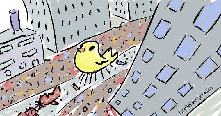 parade in street bird eye view