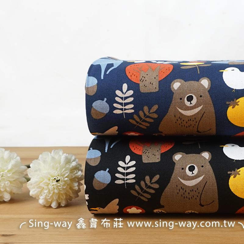 森林動物們 大熊 綿羊 馴鹿 樹林 狸貓 CA450779