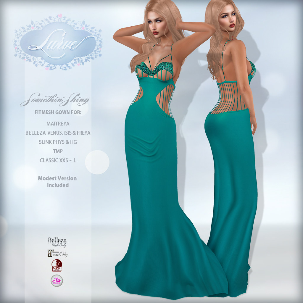 *Lurve* Somethin' Shiny Gown in Aqua