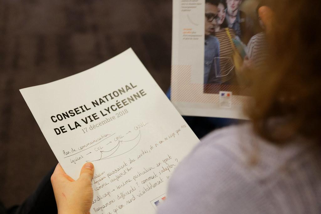Conseil National de la Vie Lycéenne 2018