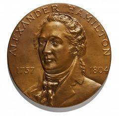 Alexander Hamilton Treasury medal