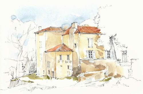 Château de Gères, Loubens, Gironde, France