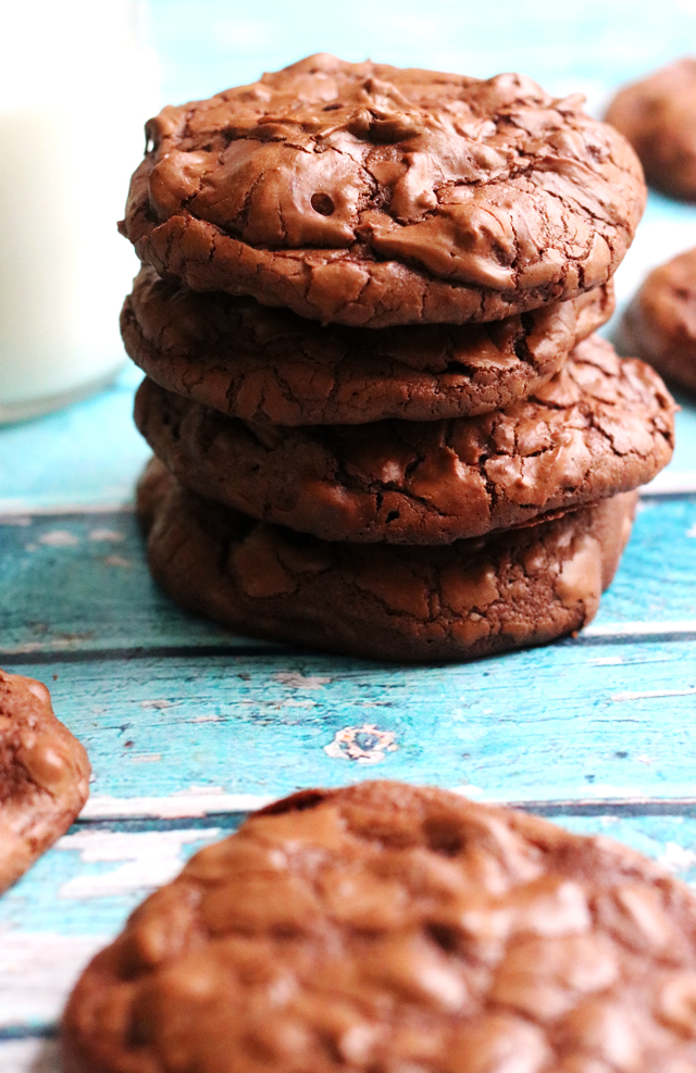 Chocolate Truffle Cookies with a Crackly Crust