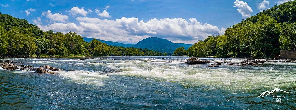 維吉尼亞州的新河。圖片提供InFlight Aerial Imaging Services,LLC