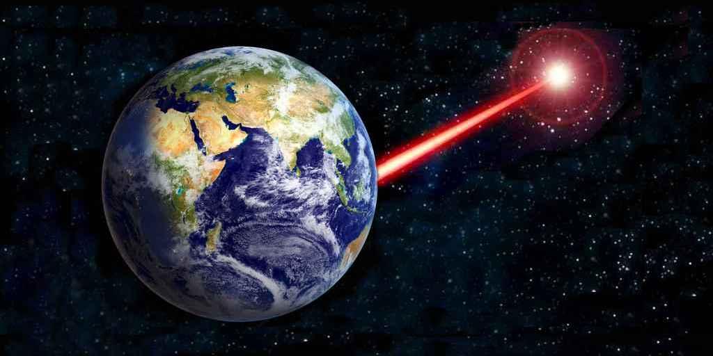 """Le laser comme """"lumière de poche"""" pour attirer l'attention des étrangers"""