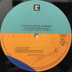 DAVID SANBORN:CLOSE-UP(LABEL SIDE-A)