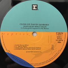 DAVID SANBORN:CLOSE-UP(LABEL SIDE-A)