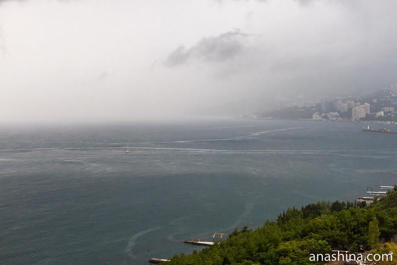 Дождь в Ялте, Крым