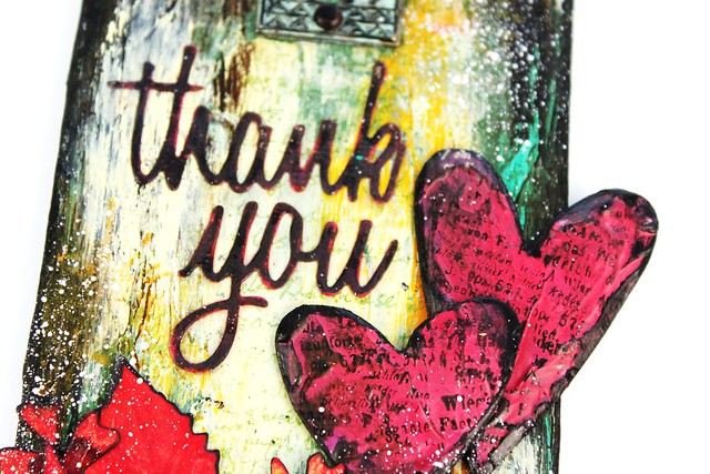 Meihsia Liu Simply Paper Crafts Mixed Media Tag Thank You Fall Thanksgiving Simon Says Stamp Tim Holtz 4