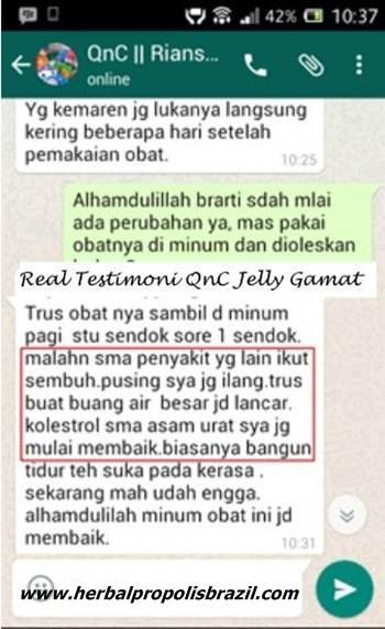 Testimoni QnC Jelly Gamat AtasiSusah Bab