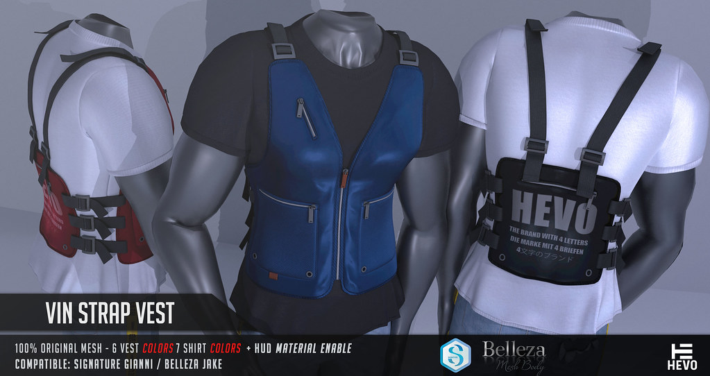 HEVO – Vin Strap Vest @ MEN ONLY Jan. 2019